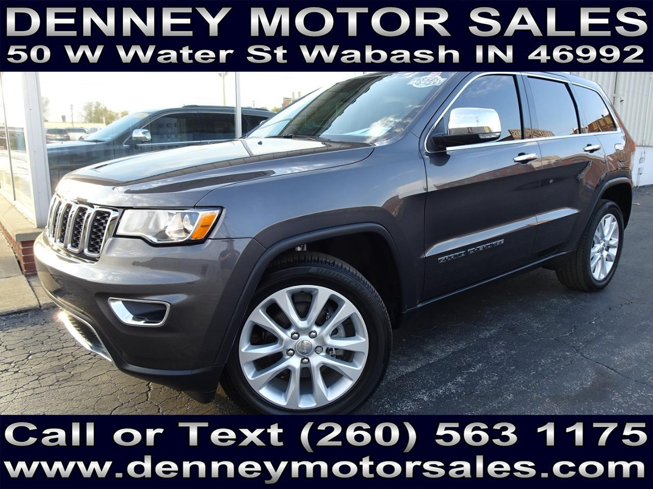 Used 2017 Jeep Grand Cherokee Limited 4wd For Sale In Wabash In 46992 Denney Motor Sales Inc
