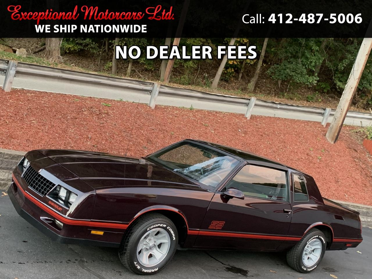 Chevrolet Monte Carlo 2dr Coupe Sport SS 1988