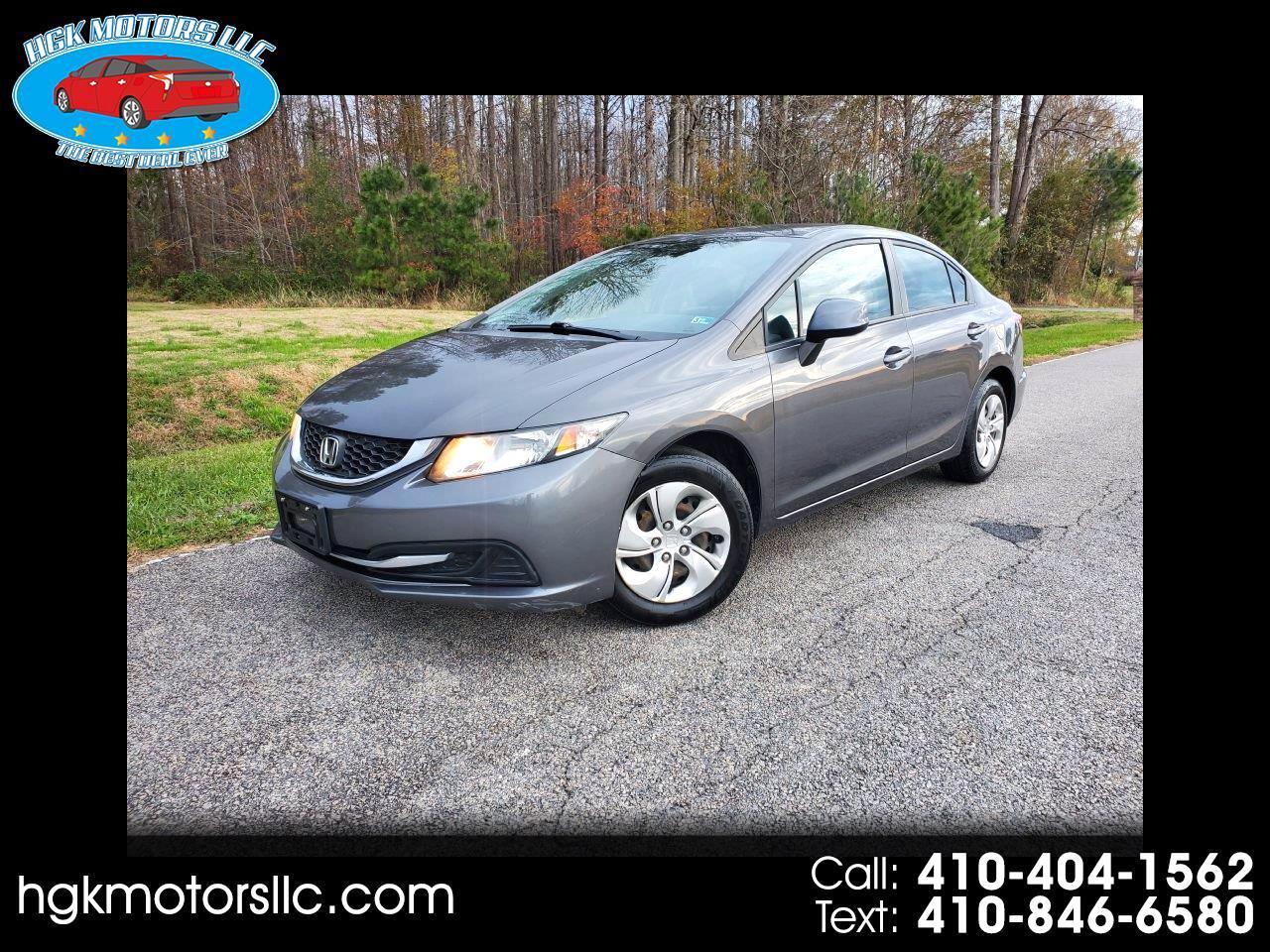Used 2014 Honda Civic Lx Sedan Cvt For Sale In Edgewood Md 21040 Hgk Motors Llc