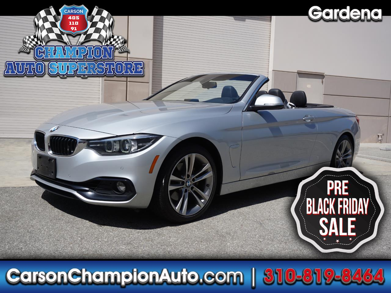 2018 BMW 4 Series 430i Convertible SULEV