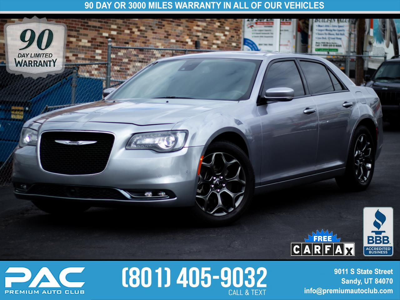 2018 Chrysler 300 S V6 AWD