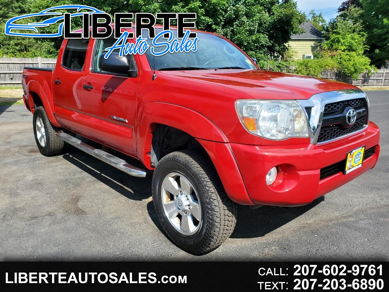 Toyota Tacoma 4WD SR5 Double Cab 5' Bed V6 AT (Natl) 2011