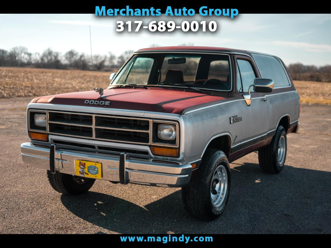 Dodge Ram Charger 150 4WD 1989