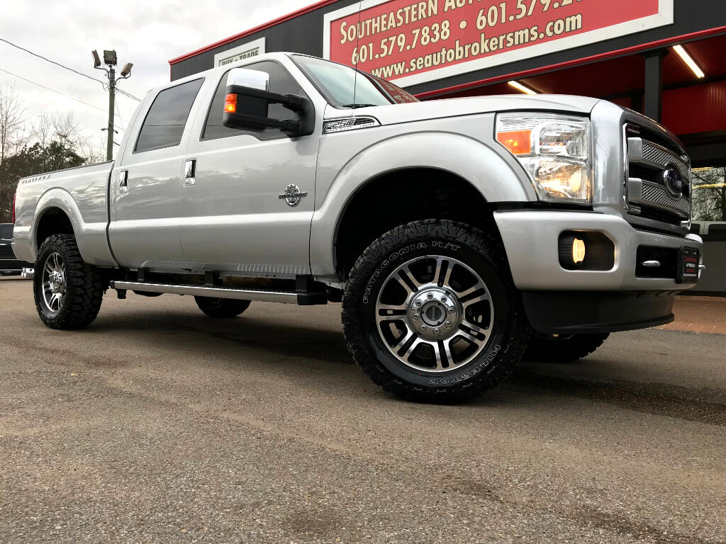 2014 Ford F-250 SD PLATINUM CREW CAB SHORT BED 4WD LEVELED