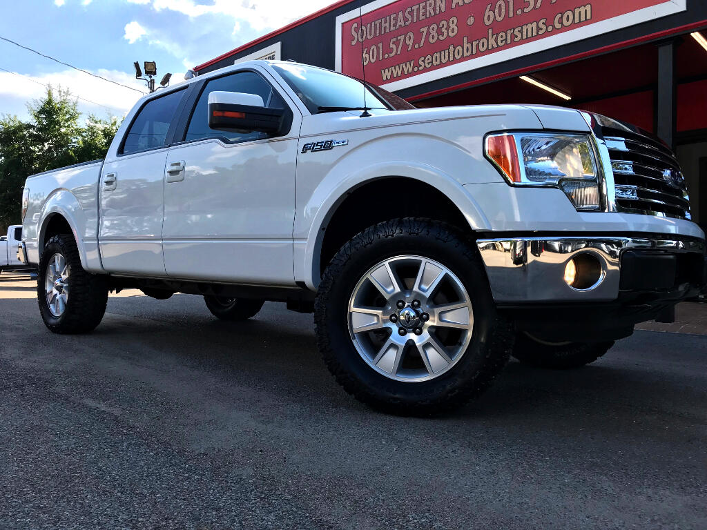 2013 Ford F-150 LARIAT SUPERCREW 5.5-FT. BED 4WD LEVELED
