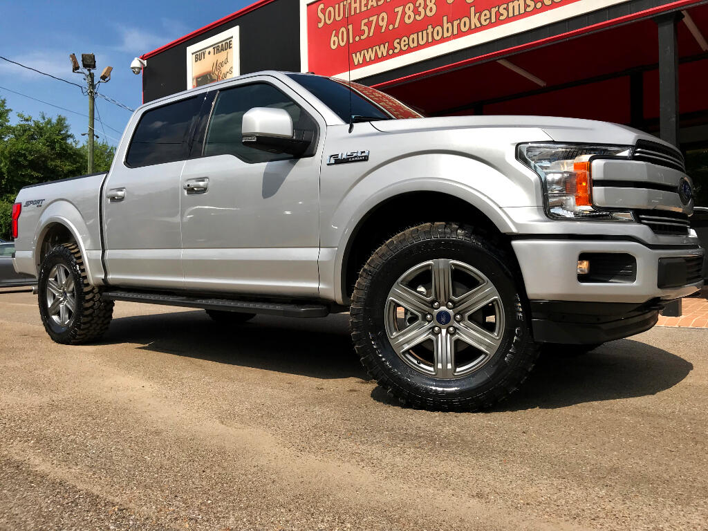 2018 Ford F-150 LARIAT CREW CAB SHORT BED 4WD SPORT LEVELED