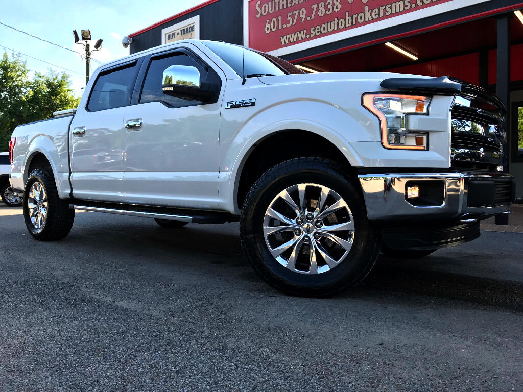 2015 Ford F-150 LARIAT CREW CAB SHORT BED 4WD LEVELED