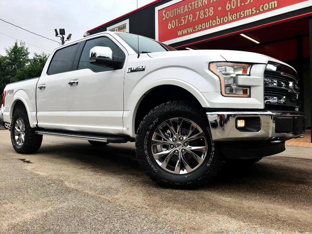 2016 Ford F-150 LARIAT CREW CAB SHORT BED 4WD LEVELED