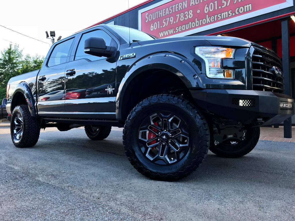 2016 Ford F-150 BLACK WIDOW SCA PERFORMANCE 4WD CUSTOM LIFTED