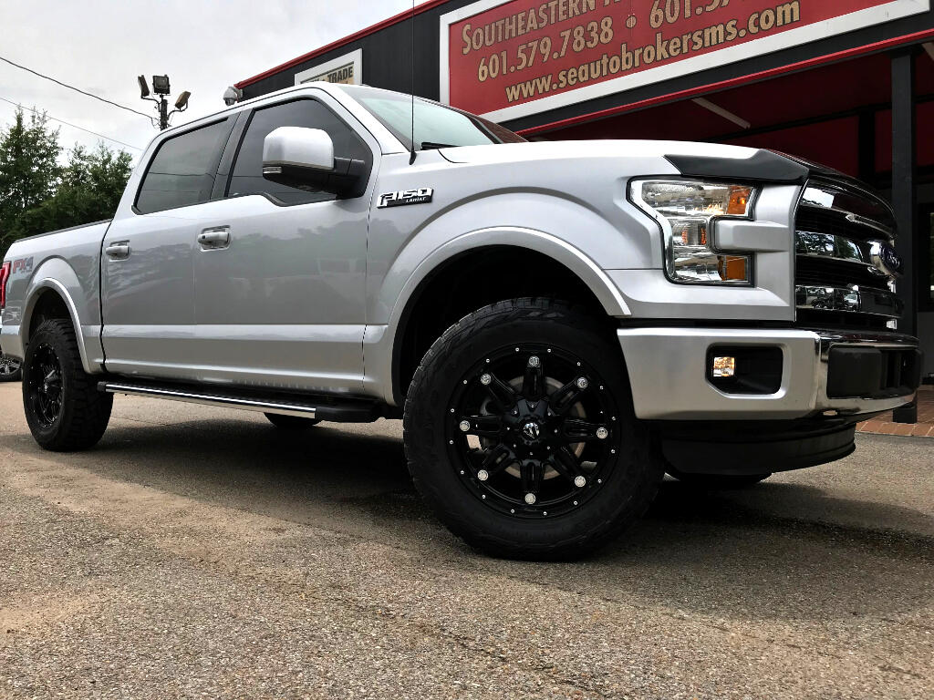 2015 Ford F-150 LARIAT SUPERCREW 5.5-FT. BED 4WD LEVELED