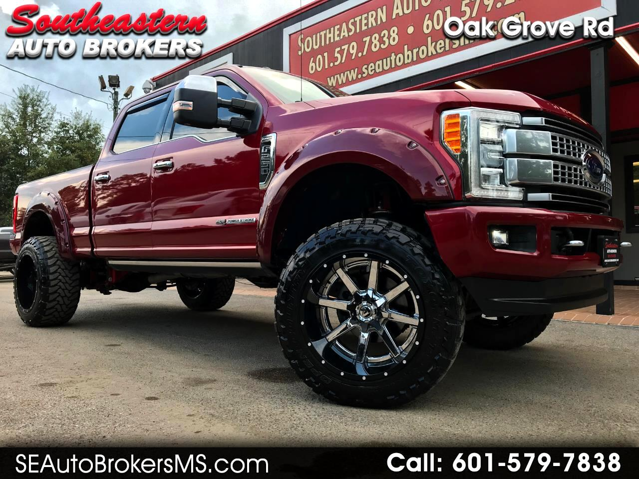 2017 Ford F-250 SD PLATINUM CREW CAB SHORT BED 4WD CUSTOM LIFTED