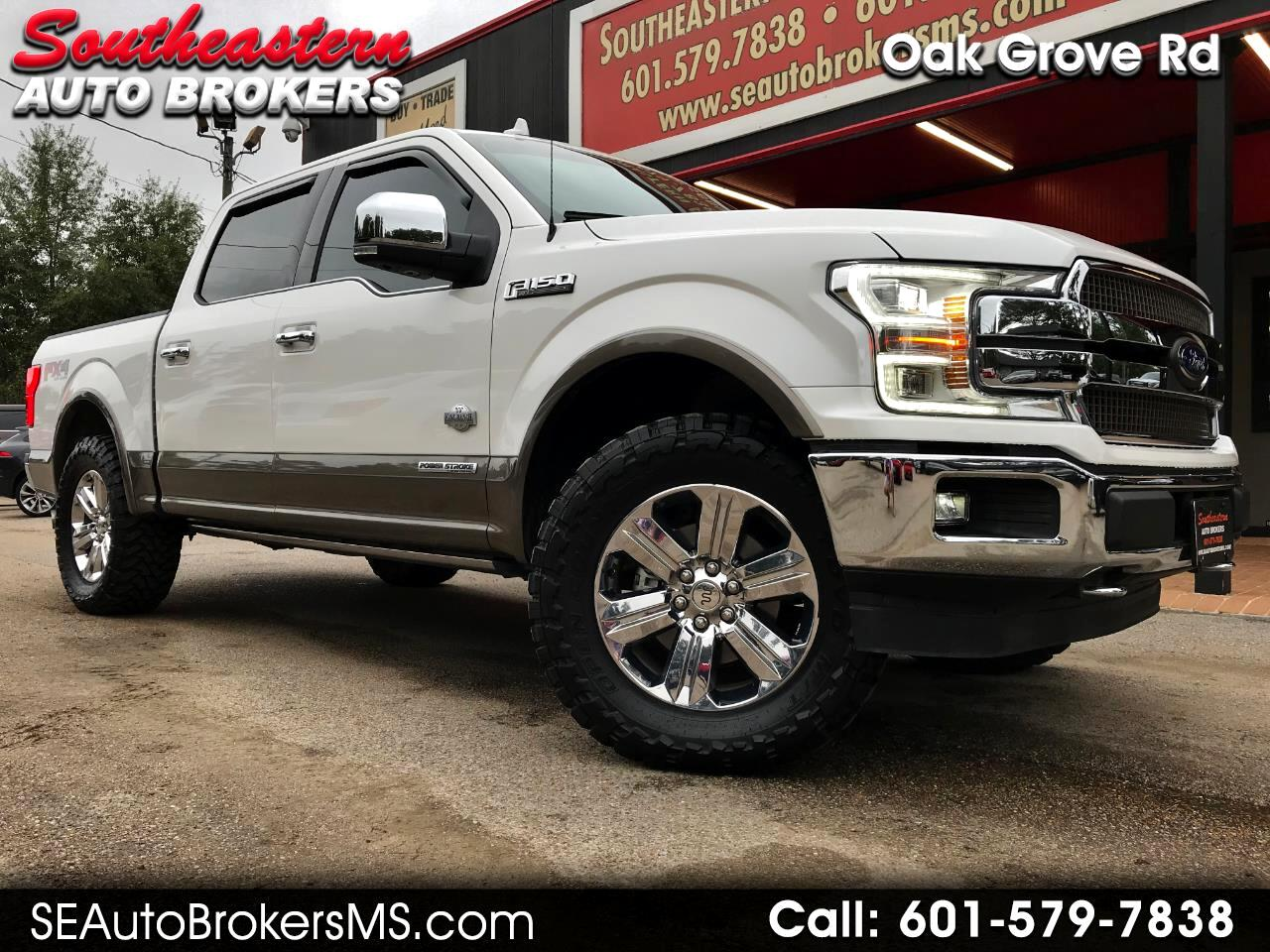 2018 Ford F-150 KING RANCH CREW CAB 4WD LEVELED POWER STROKE DIESE