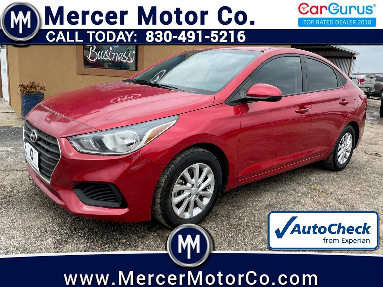 Hyundai Accent SEL Sedan Auto 2018