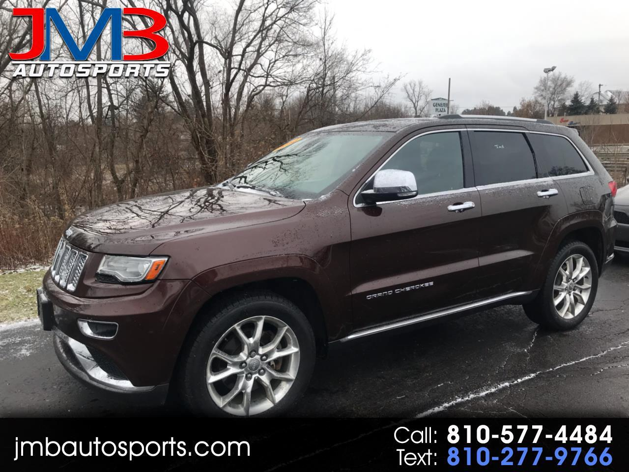 Used Tires Flint Mi >> Used 2014 Jeep Grand Cherokee Summit 4wd For Sale In Flint