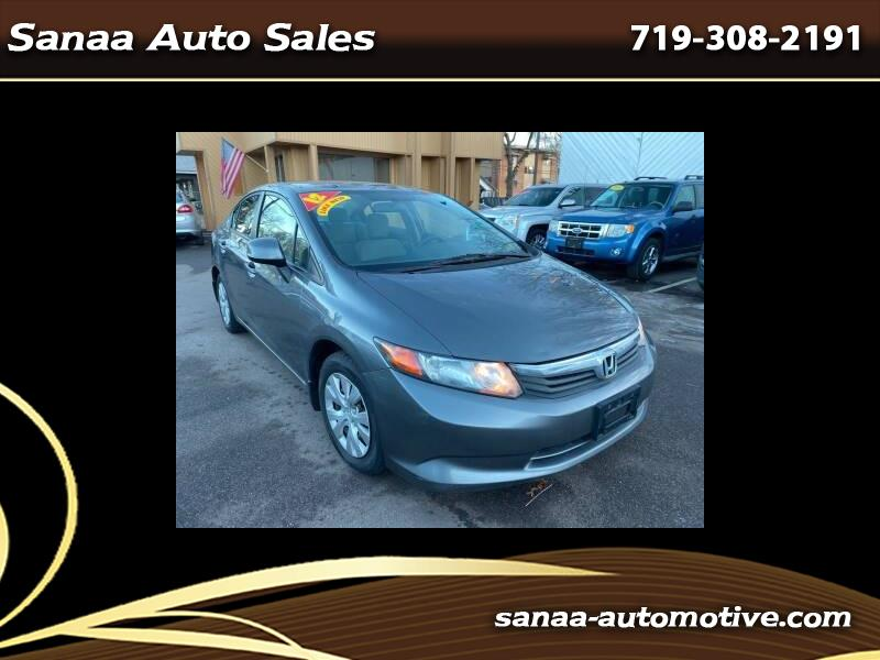 Honda Civic LX Sedan 5-Speed MT 2012