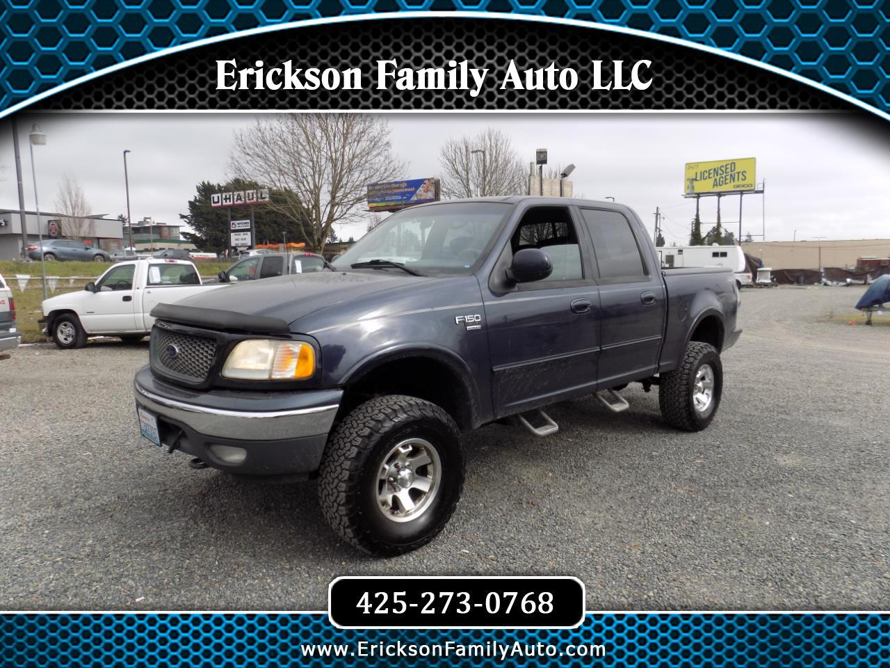 "Ford F-150 SuperCrew Crew Cab 139"" XLT 4WD 2001"
