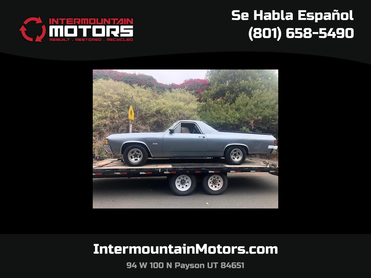1972 Chevrolet El Camino 2dr Pickup SS