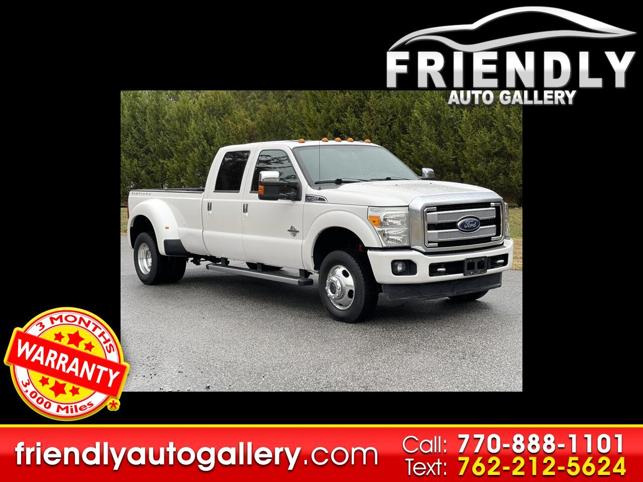 Used 2015 Ford Super Duty F-350 DRW Platinum Pickup 4D 6 3/4 ft for Sale in  Cumming GA 30040 Friendly Auto Gallery | 2015 Ford F350 Super Duty Truck Uper Wiring Harness |  | Friendly Auto Gallery