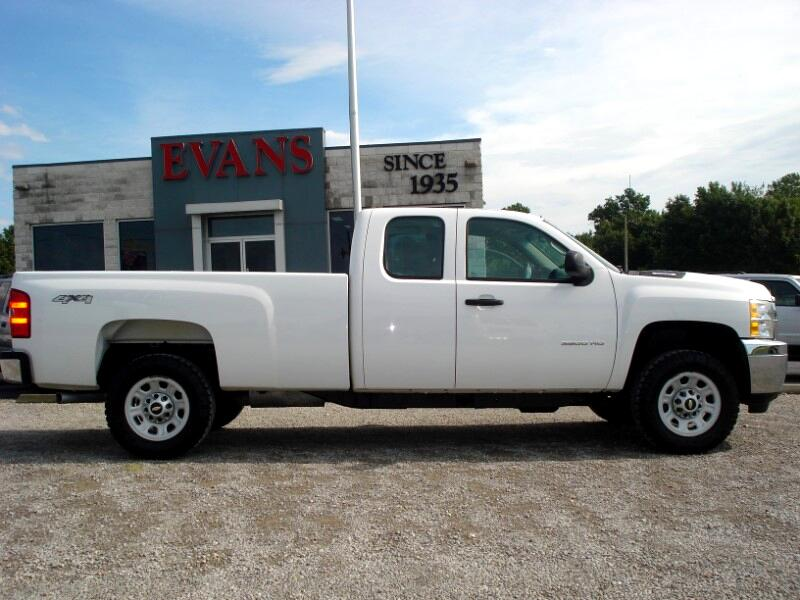 2012 Chevrolet Silverado 3500HD EX CAB 4DR LONG BED 4X4 1-TON SINGLE REAR WHEEL