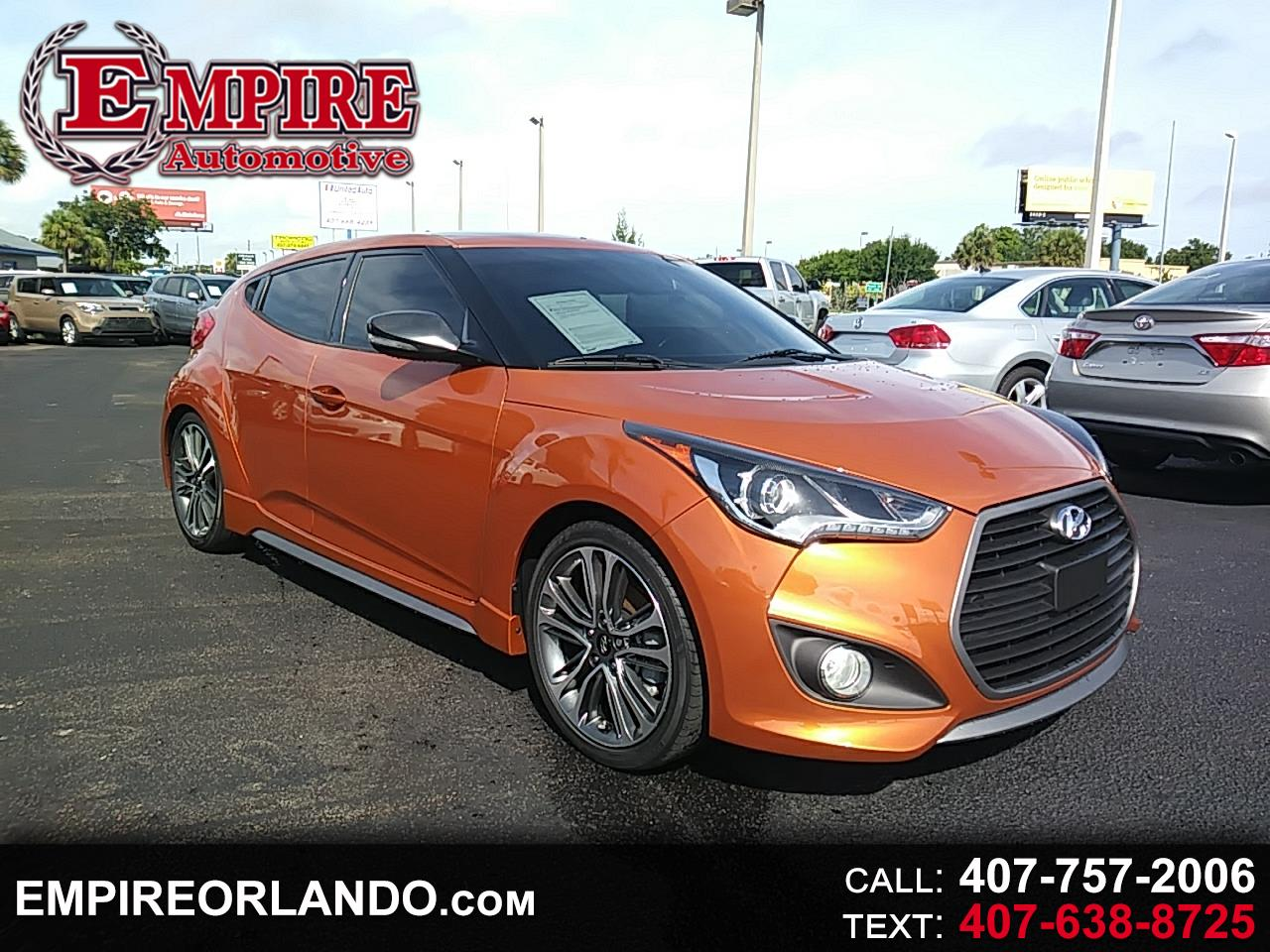 Hyundai Veloster 3dr Cpe Man Turbo w/Orange Accent 2016