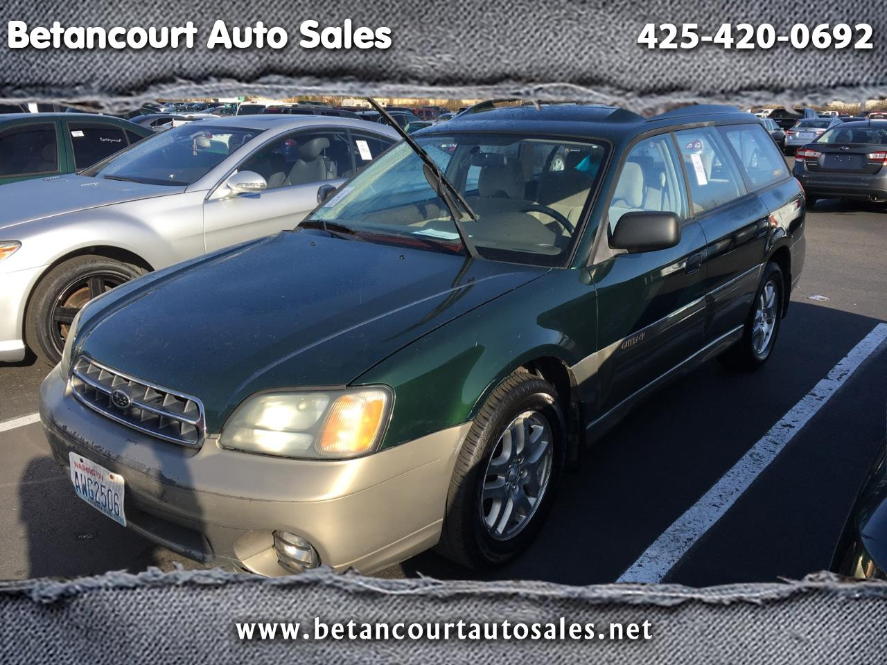 Subaru Legacy Wagon 5dr Outback Man. w/All Weather Pkg 2002