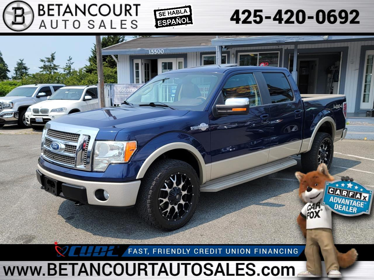 """2010 Ford F-150 4WD SuperCrew 145"""" King Ranch"""