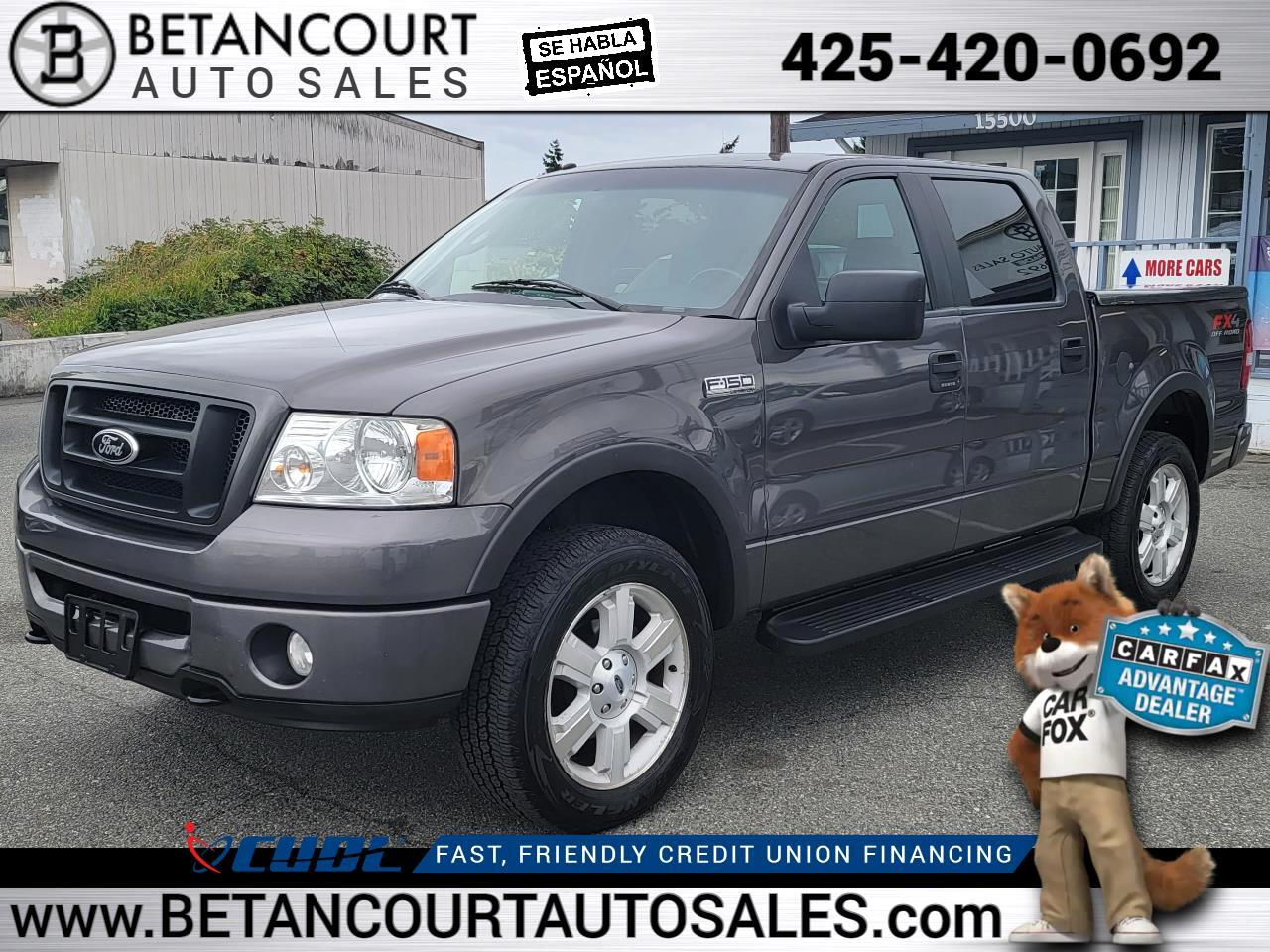 """2007 Ford F-150 4WD SuperCrew 139"""" FX4"""