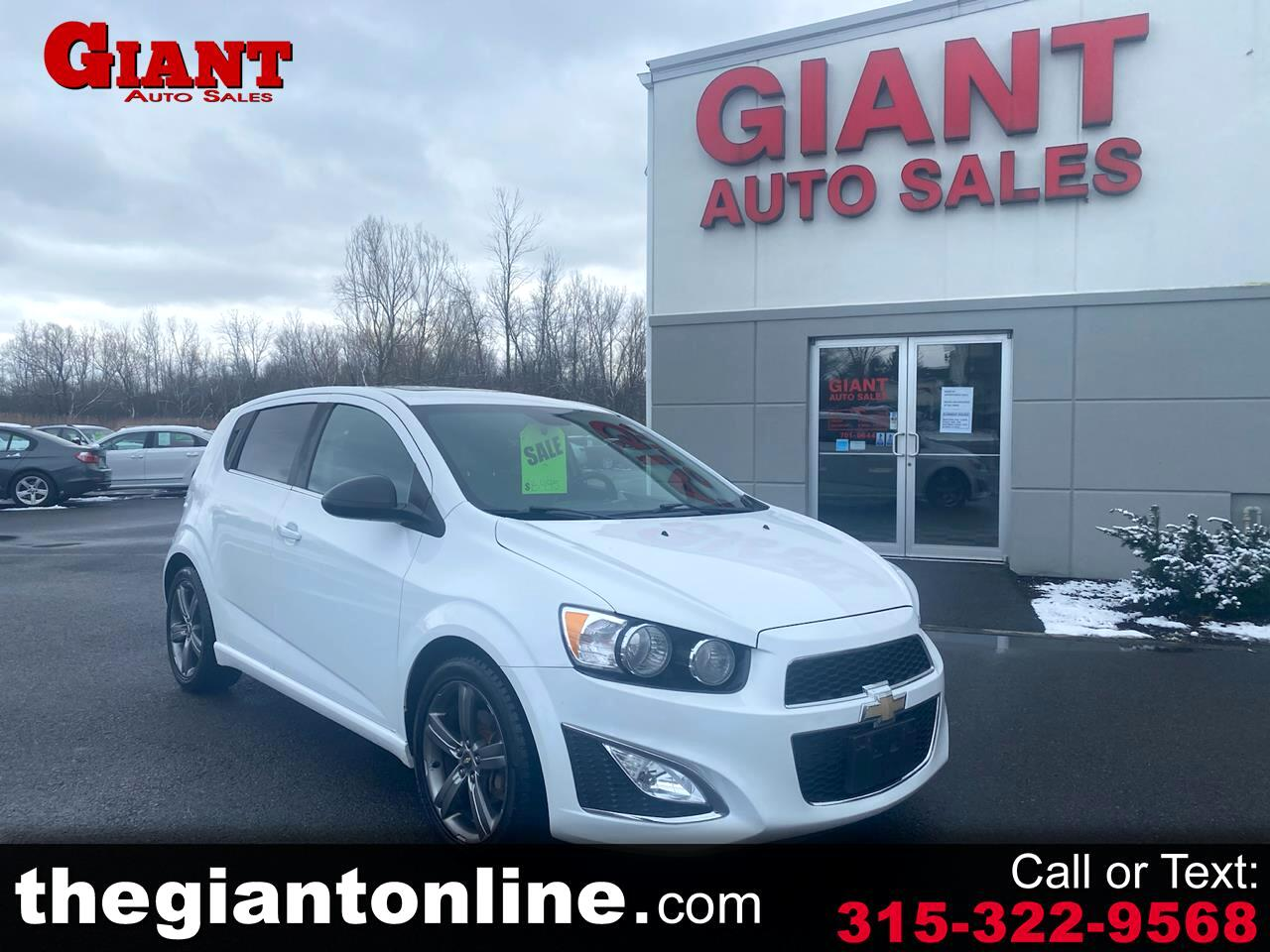 Chevrolet Sonic 5dr HB Auto RS 2013