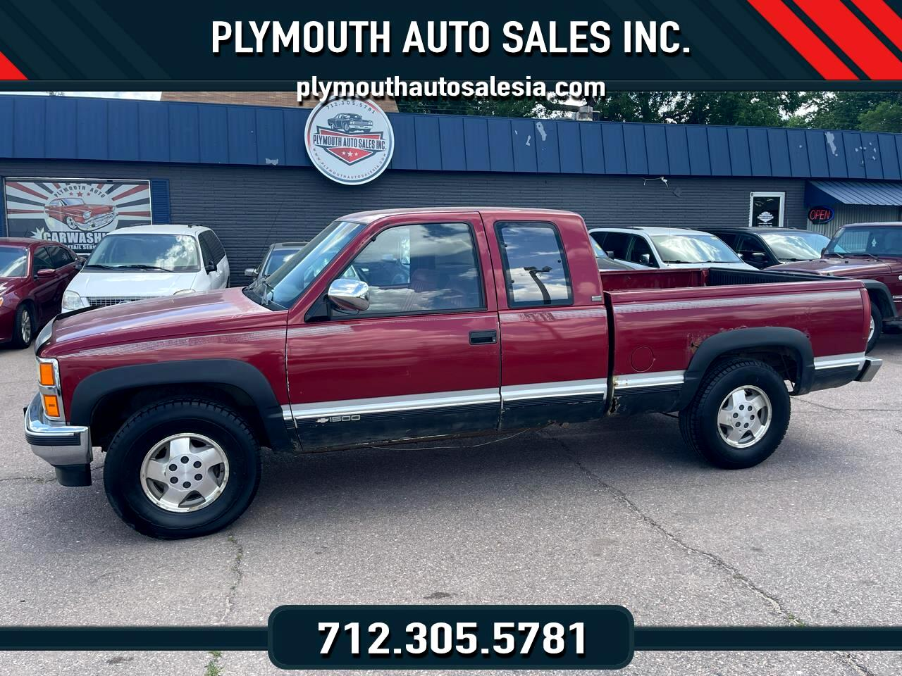 """Chevrolet 1500 Pickups Ext Cab 141.5"""" 4WD 1991"""