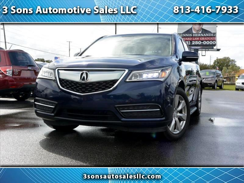 Acura MDX 6-Spd AT w/Advance and Ent. Pkg 2015