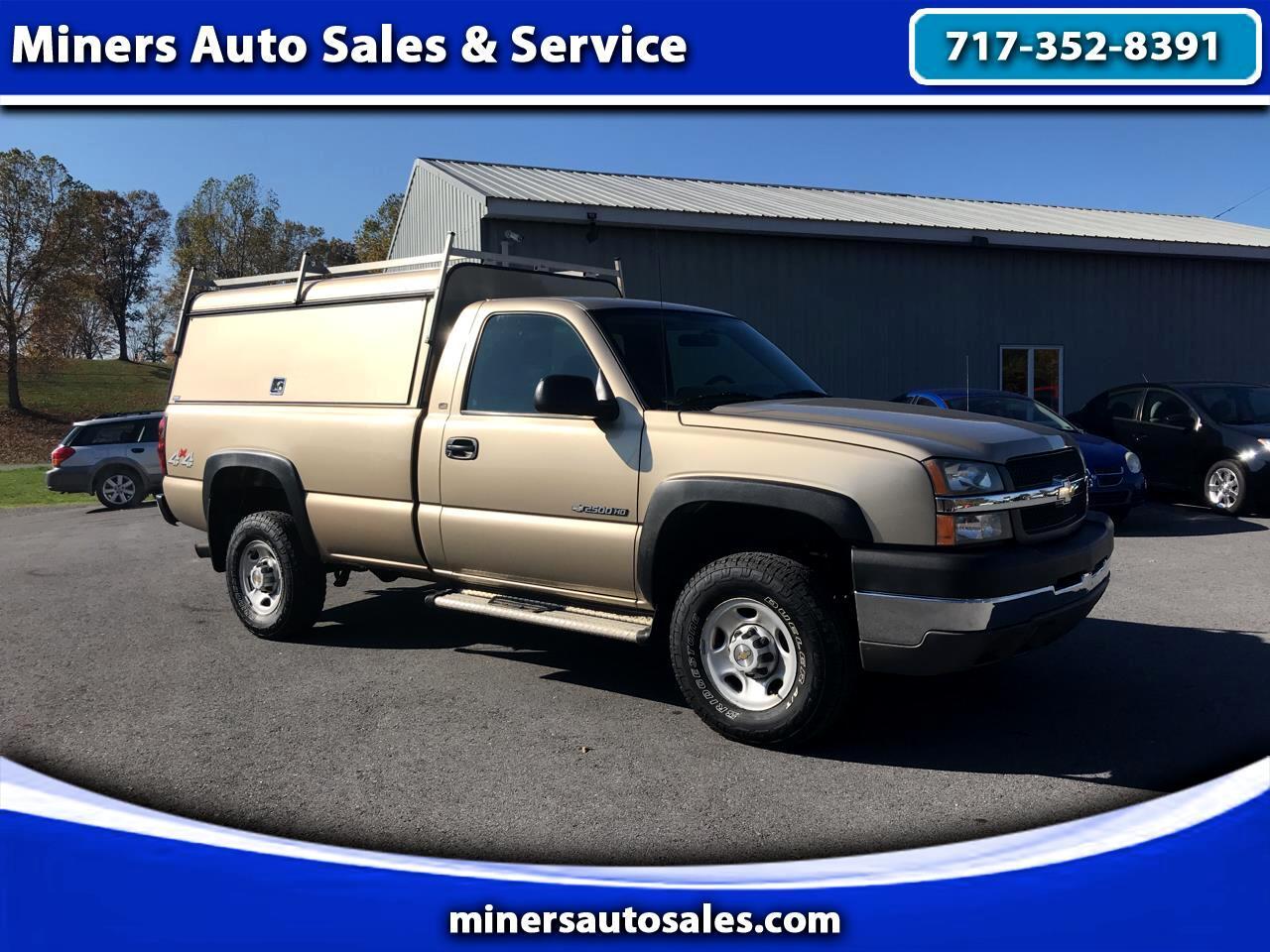 """Chevrolet Silverado 2500HD 4WD Reg Cab 133.6"""" Work Truck 2004"""