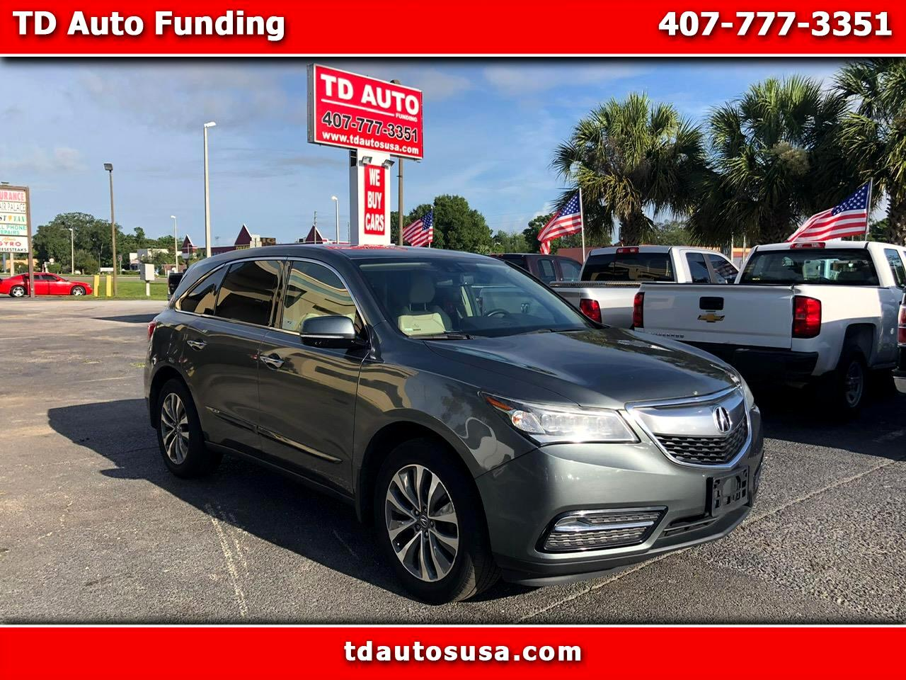 2014 Acura MDX 6-Spd AT w/Tech Package