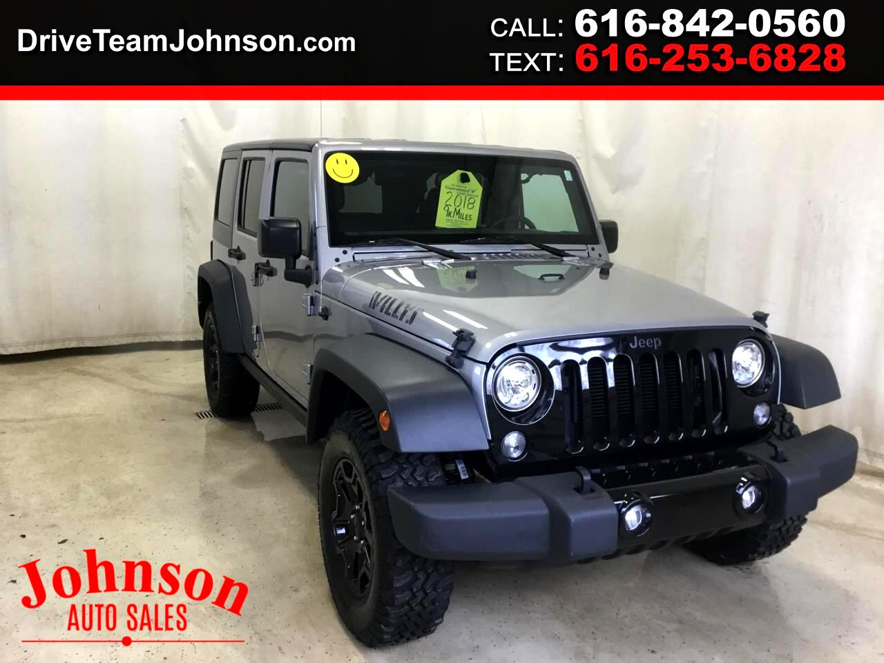 Jeep Wrangler JK Unlimited Willys Wheeler W 4x4 2018