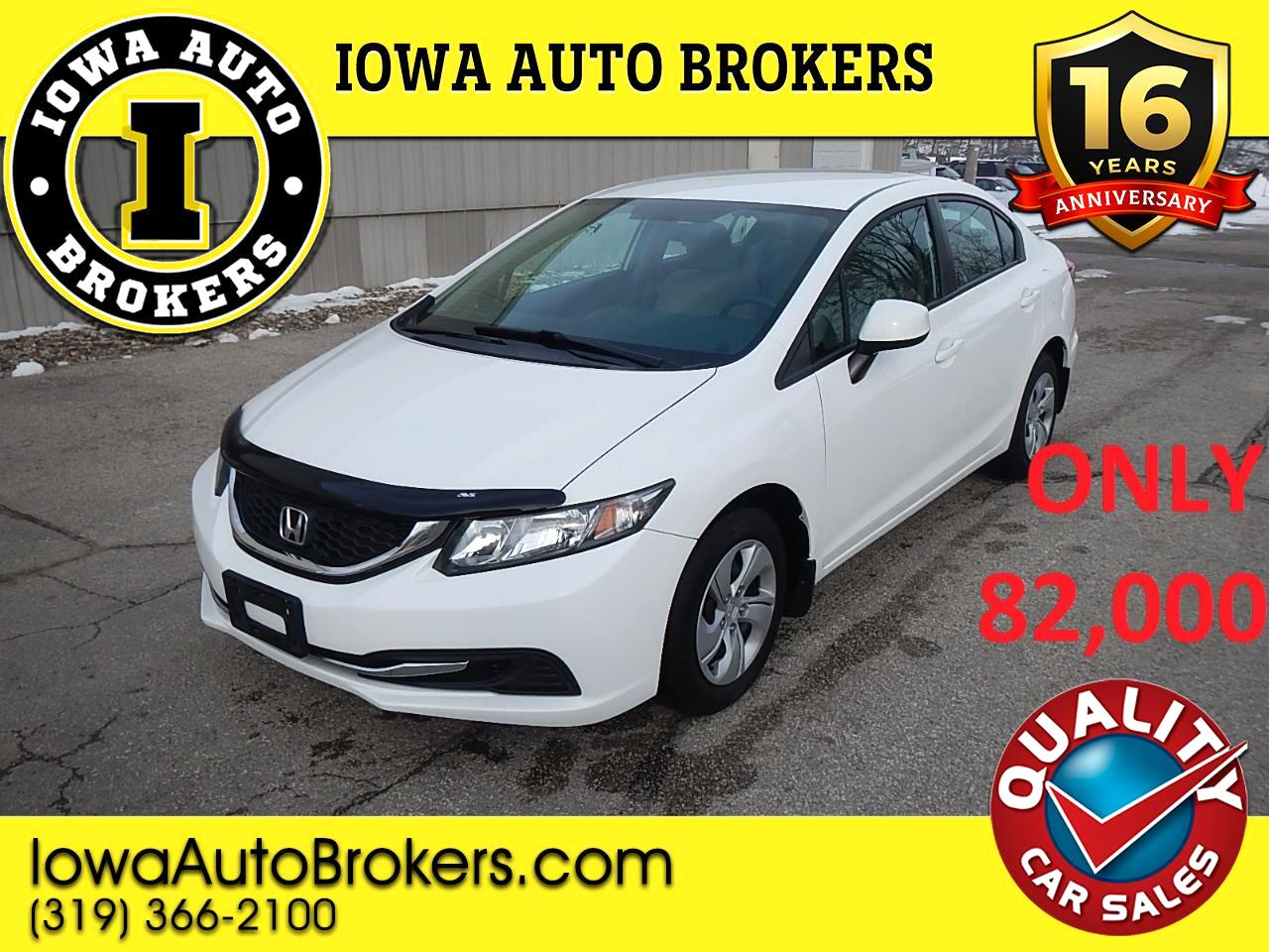 Honda Civic 4dr Sedan LX Auto 2013