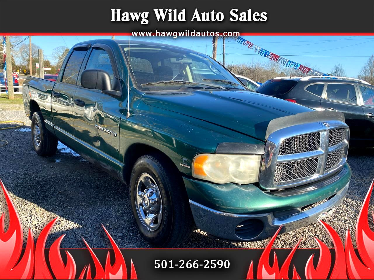 Dodge Ram 2500 SLT Quad Cab Long Bed 2WD 2003