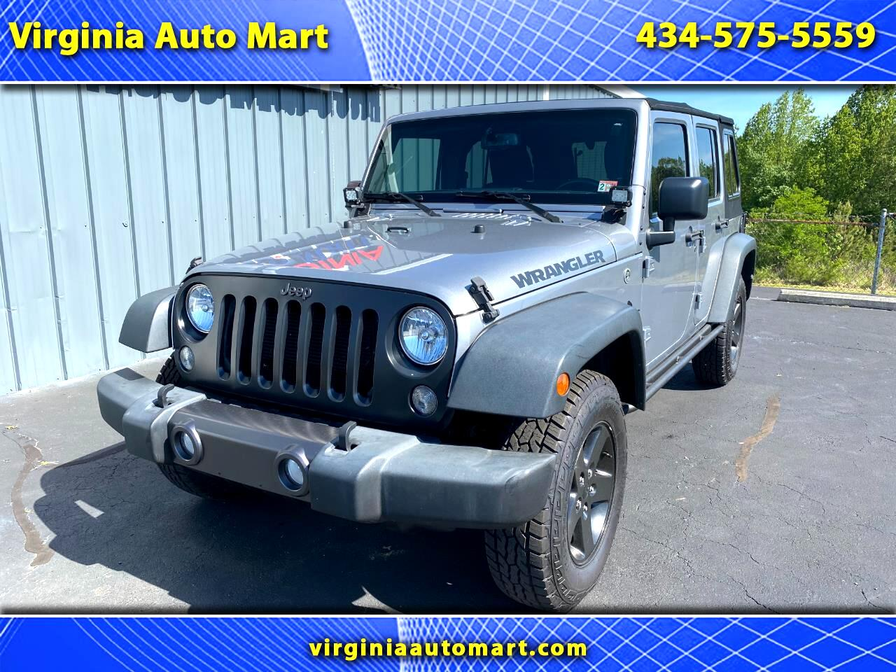 Jeep Wrangler Unlimited 4WD 4dr Black Bear *Ltd Avail* 2016