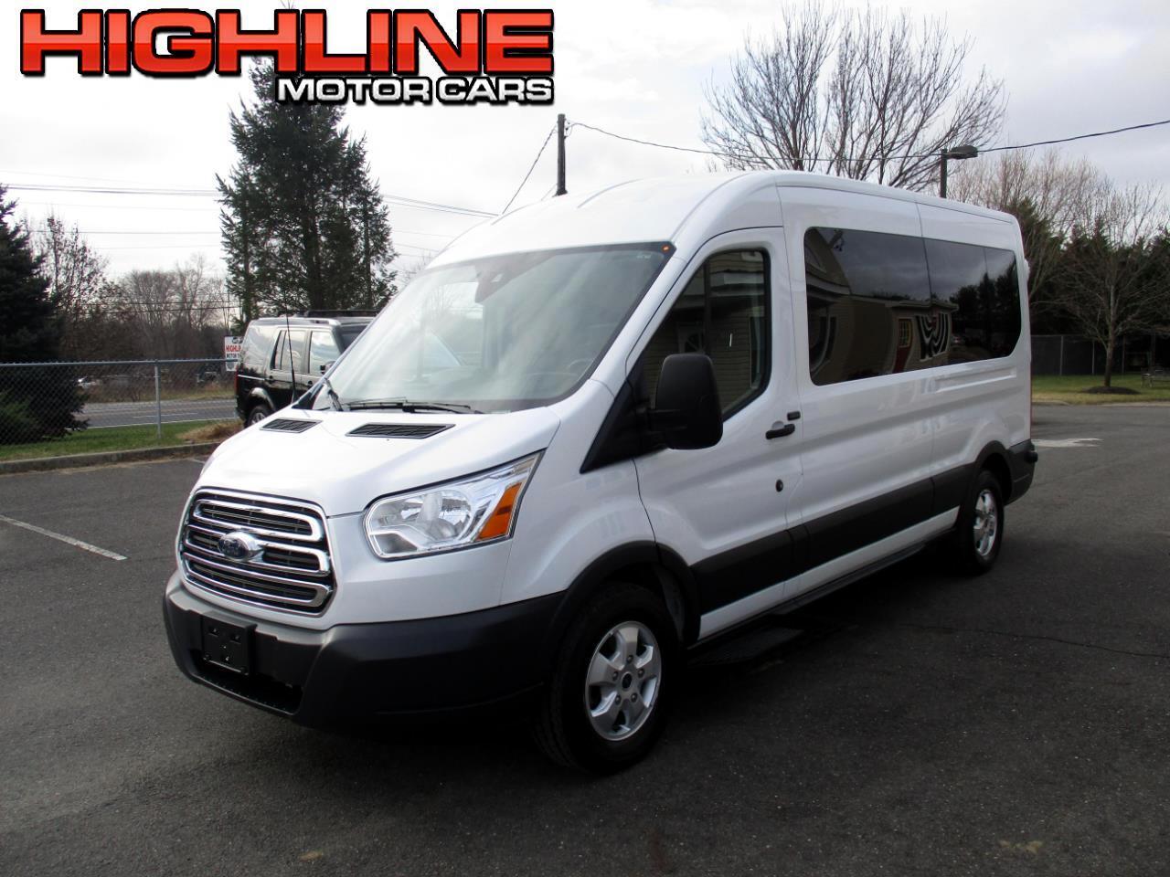 """2018 Ford Transit Passenger Wagon T-350 148"""" Med Roof XLT Sliding RH Dr"""