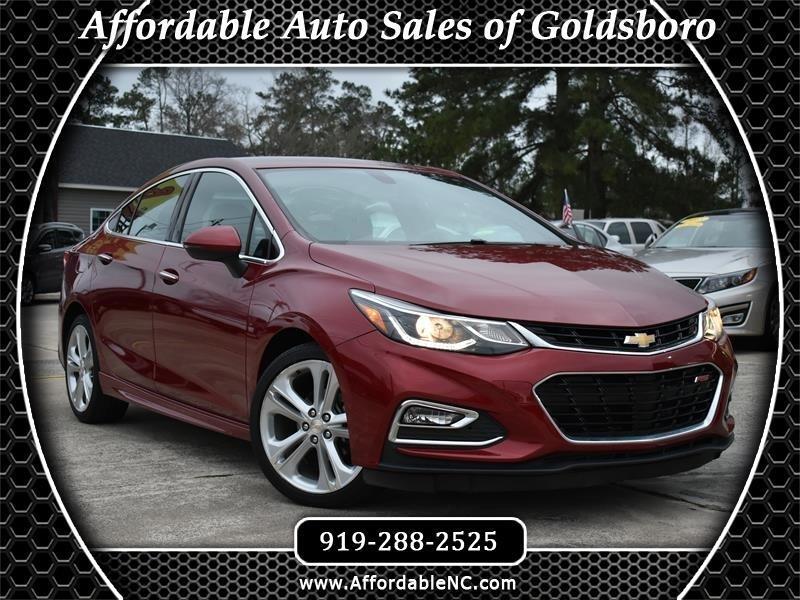 Used 2017 Chevrolet Cruze 4dr Sdn 1 4l Premier W 1sf For Sale In Goldsboro Nc 27534 Affordable Auto Sales Of Goldsboro