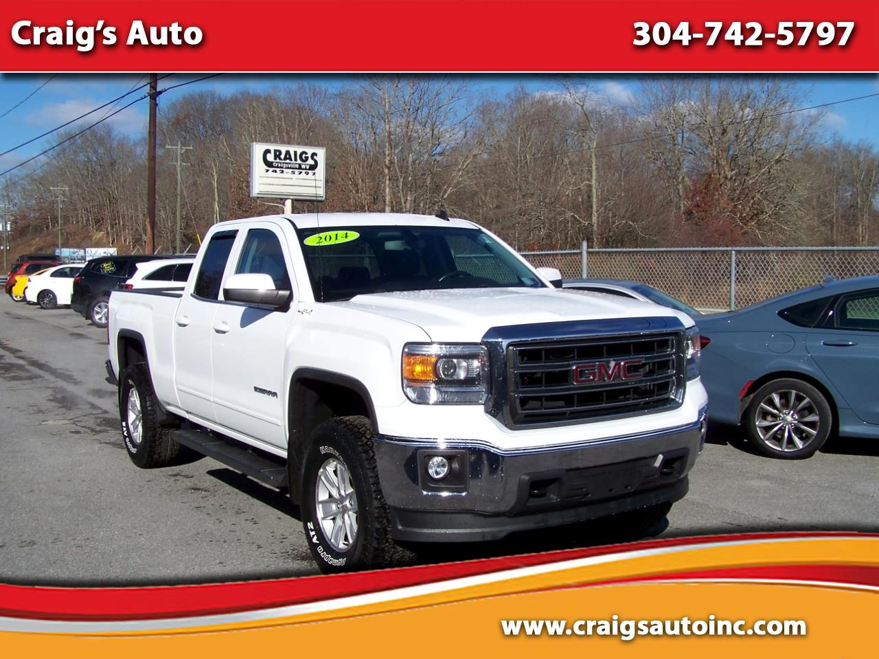 Used 2014 Gmc Sierra 1500 4wd Double Cab 143 5 Sle For Sale In Craigsville Wv 26205 Craig S Auto