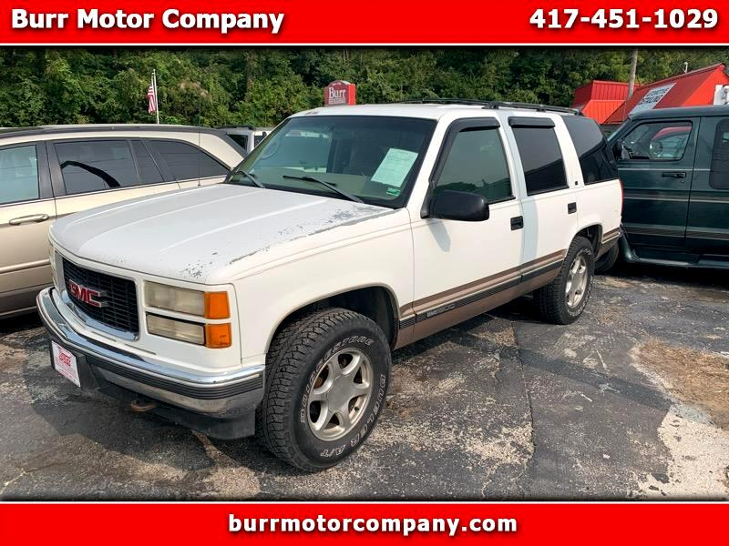 used 1998 gmc yukon sle 4wd for sale in neosho mo 64850 burr motor company used 1998 gmc yukon sle 4wd for sale in