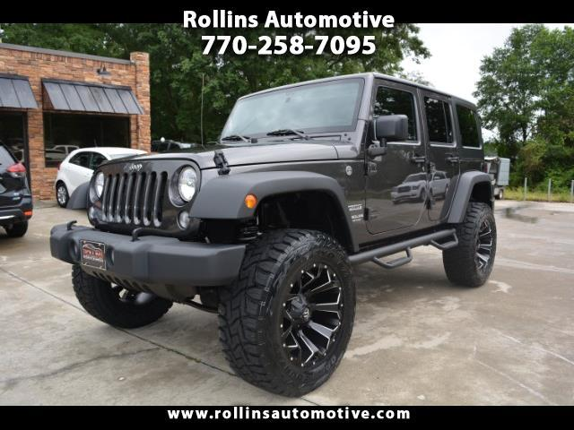 2017 Jeep Wrangler Unlimited Sport 4WD Lifted Lots of Adds