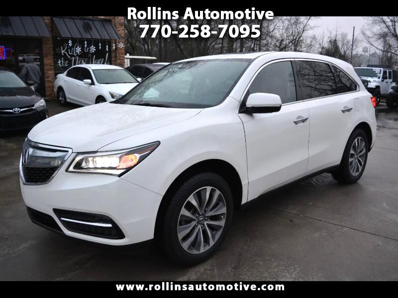 Acura MDX 9-Spd AT w/Tech and Entertainment Package 2016