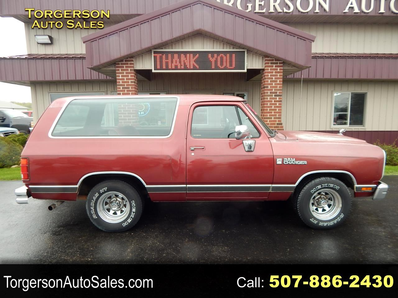Dodge Ram Charger 100 2WD 1989