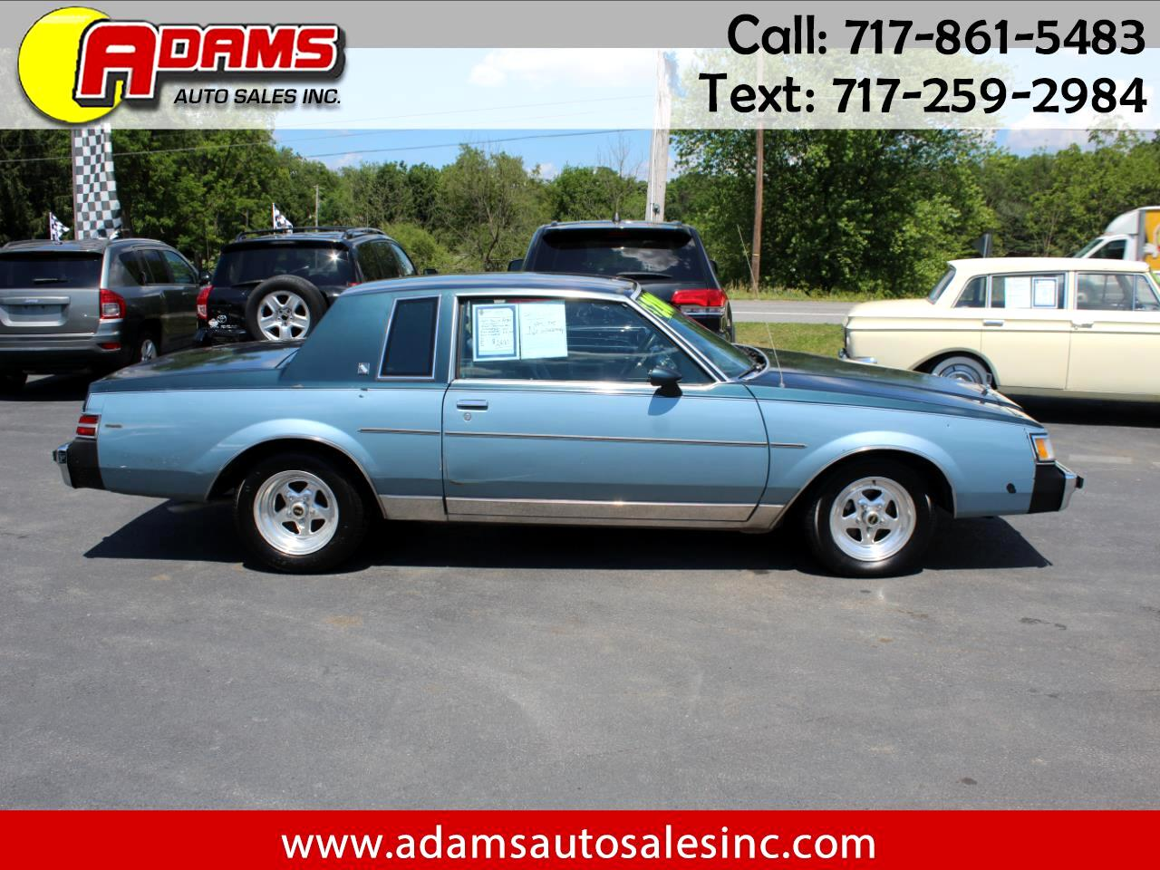 Buick Regal 2dr Coupe Limited 1987