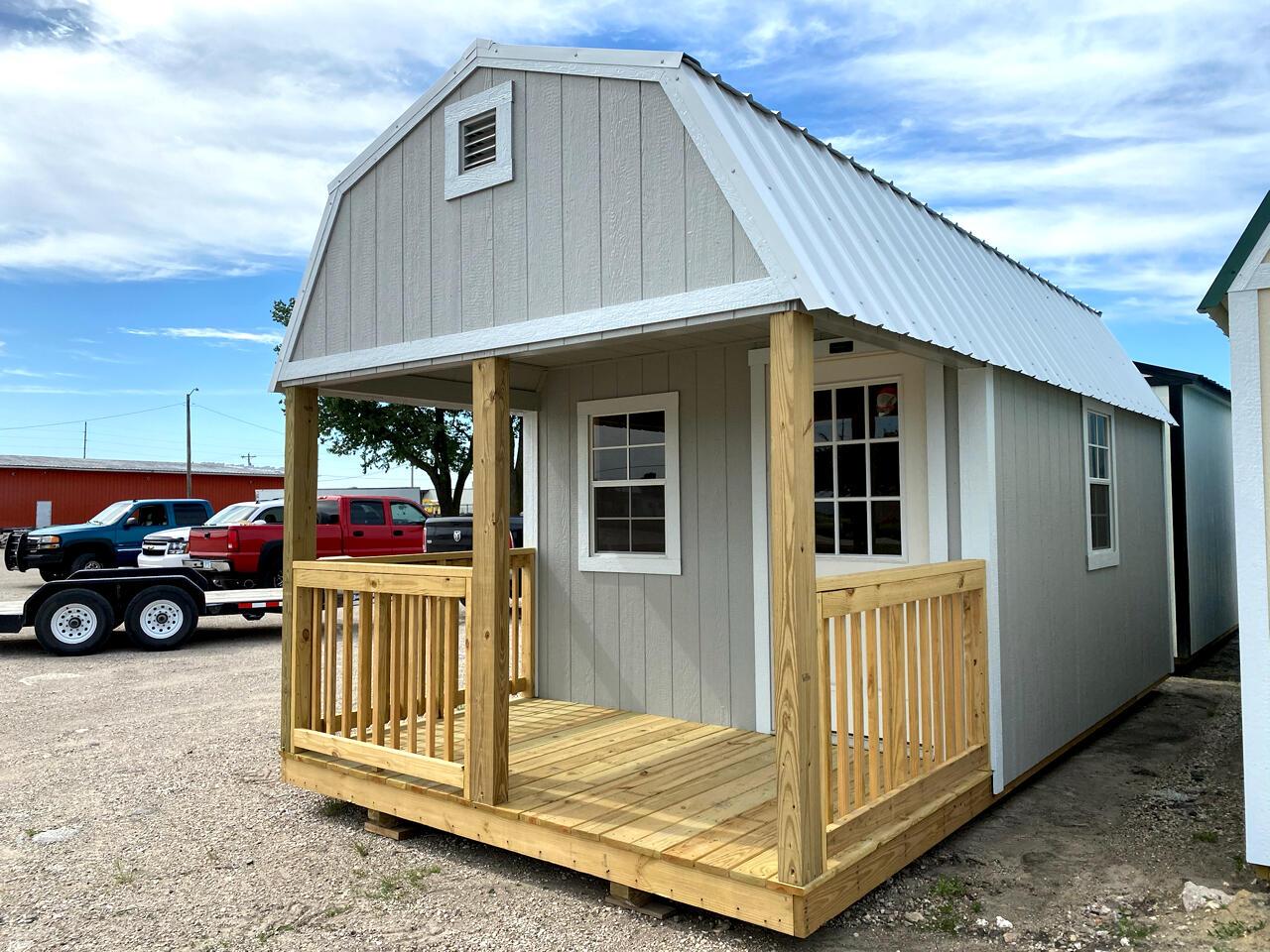 Premier Portable Buildings Lofted Barn Cabin  2020