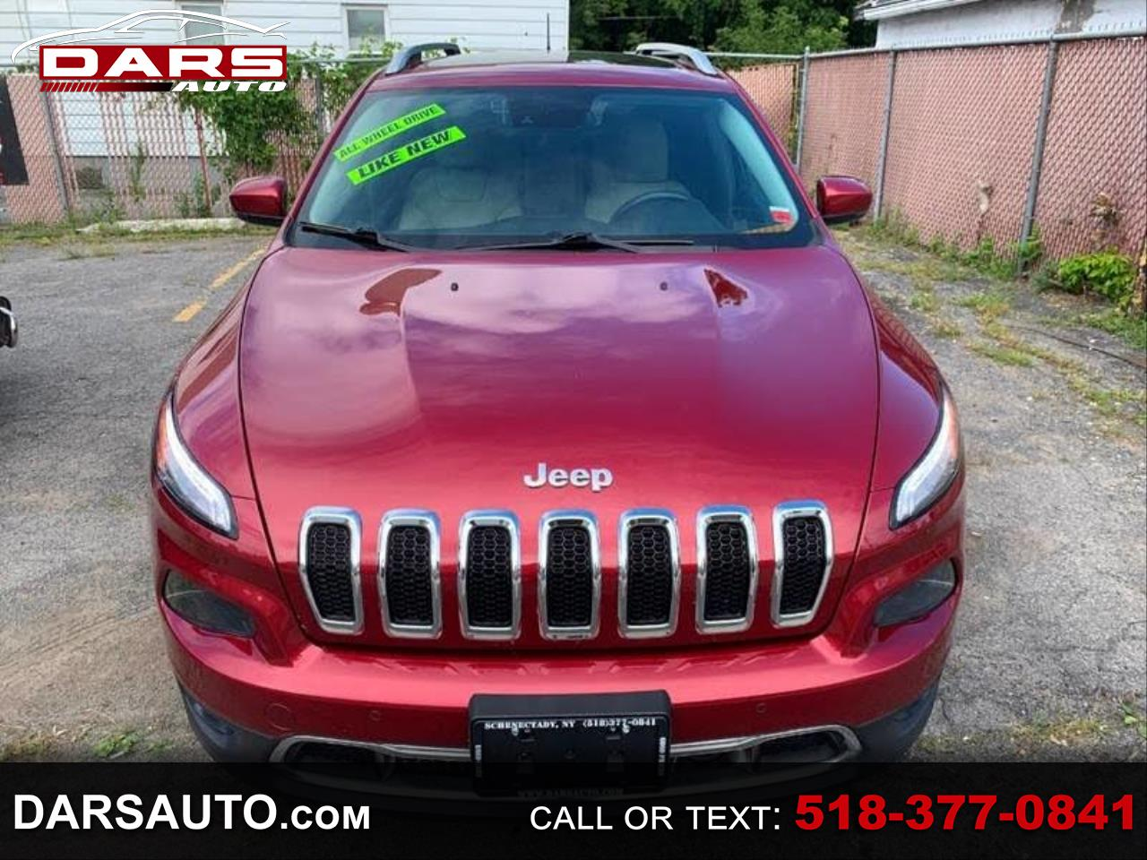 Used 2015 Jeep Cherokee Limited 4wd For Sale In Schenectady Ny 12308 Dars Auto