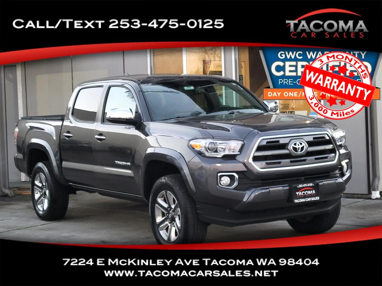 Toyota Tacoma 4WD Double Cab V6 AT Limited (Natl) 2016