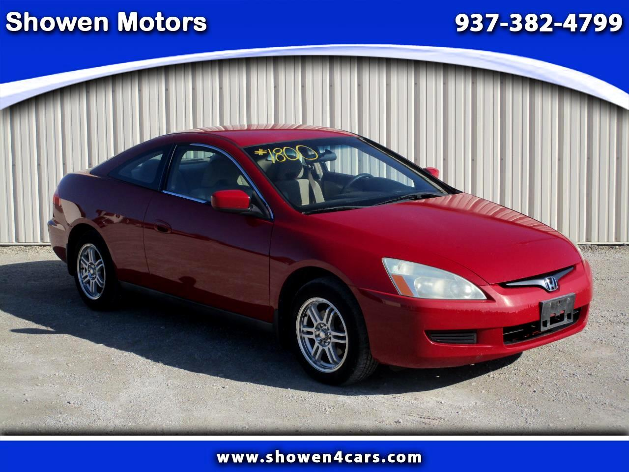 Honda Accord LX Coupe with Front Side Airbags 2004