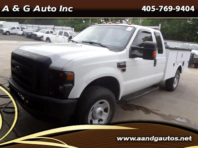 2008 Ford F-350 SD XLT Super Cab Long Bed 4WD Utility Bed w/Crane