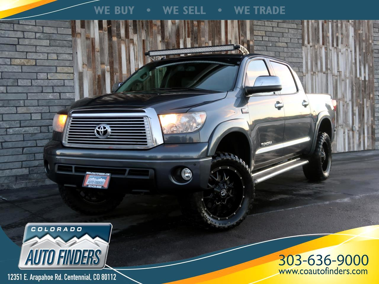 2010 Toyota Tundra 4WD Truck CrewMax 5.7L FFV V8 6-Spd AT LTD (Natl)